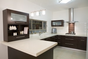 Modern Sleek Kitchen Counter Tops by Cheney Builders