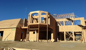 Cheney Builders Framed Custom Home in Calabasas
