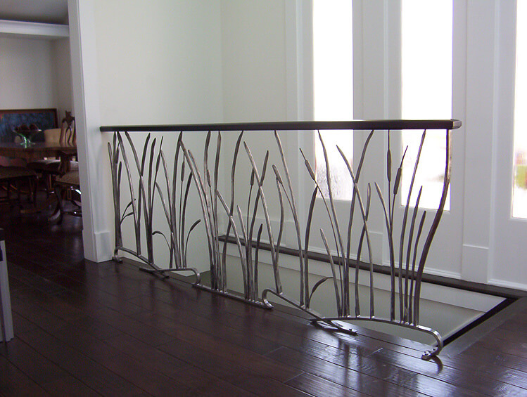Railings for stairs interior 1 cheney builders for Interior iron railing designs